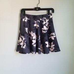 Hollister Floral Print Scuba Flare Skater Skirt